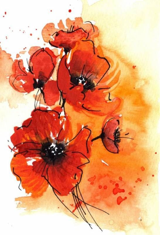 Red poppies, perhaps as a tattoo in remembrance of Grampa VanMeter...