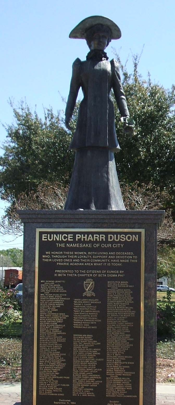 A monument of Eunice Duson erected by