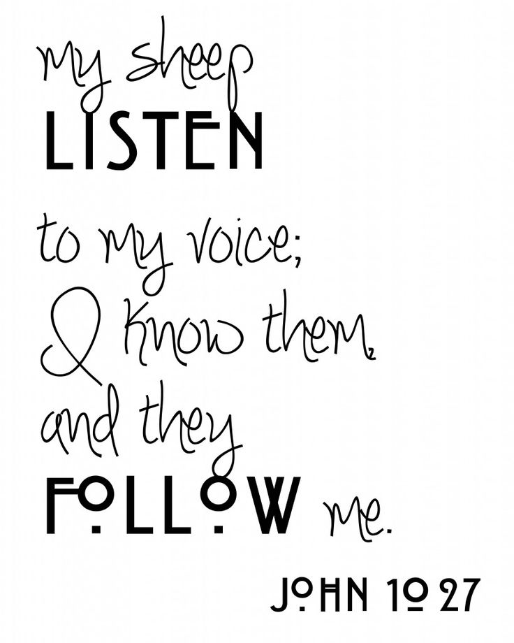 If I had a circuit yes...his voice John 10:27