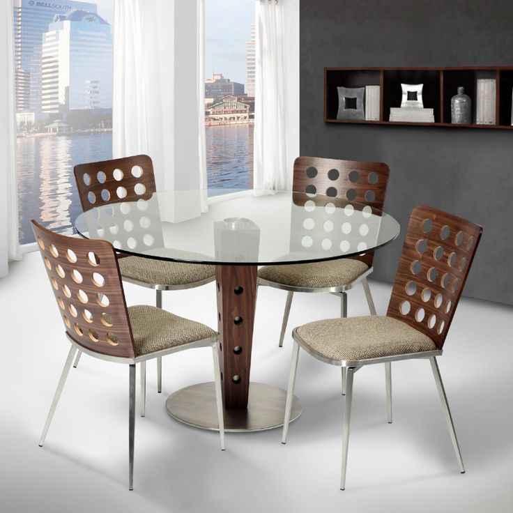 Modern Glass Top Dining Table Part 54