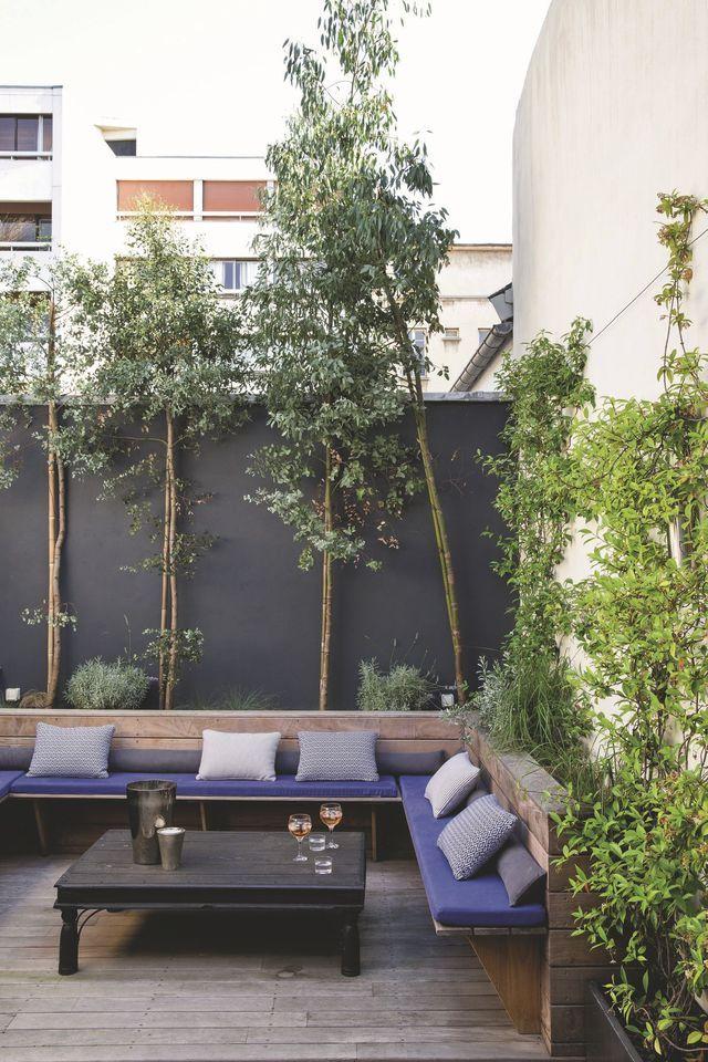 17 meilleures id es propos de abri bois sur pinterest for Jardin mur gris