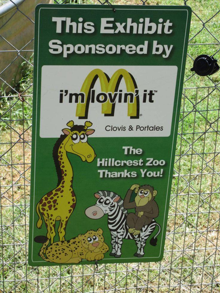 McDonald's Sponsorship Sign