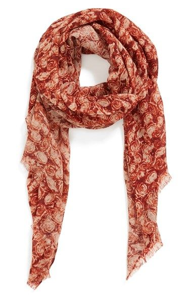 Free shipping and returns on Echo 'Rosebush' Scarf at Nordstrom.com. A dainty rose print adds subtle feminine flair to a lightweight fringed scarf.