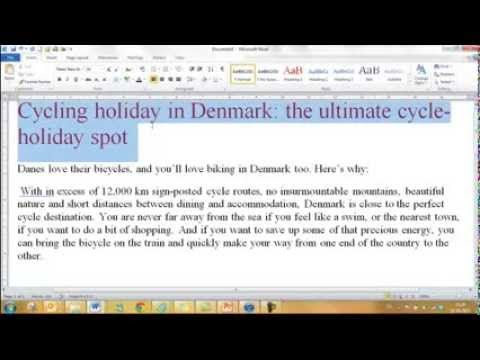 Video: How to make edit web text so it jumps out at the reader.