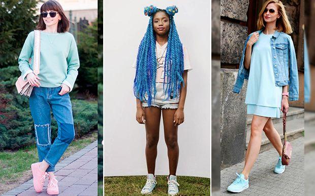 A mais nova tendência de street style: Tênis Pastel, ou os chamados candy color