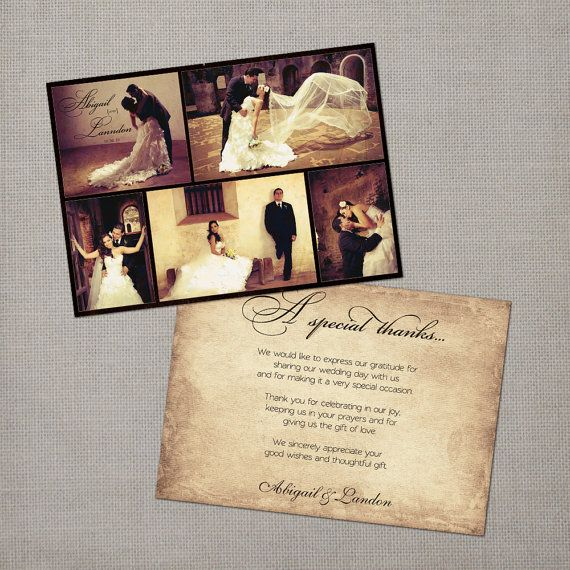 Vintage Wedding Thank You Card  the Abigail by NostalgicImprints, $44.00