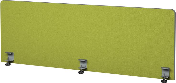 Rollin' Products-Alliance Panel 60x18 with Eco fabric frameless desk divider made form 1 inch thick sound absorbing material.  Al fabric surfaces are tackable. Made in USA.  custom sizing. #solutionsstudio