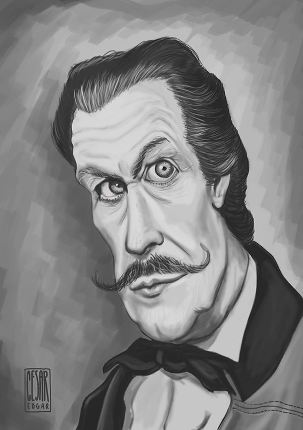 Caricature o Vincent Price (no, it's not Dali)