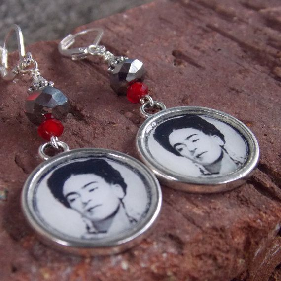 Frida Earrings by LaCraftyVida on Etsy