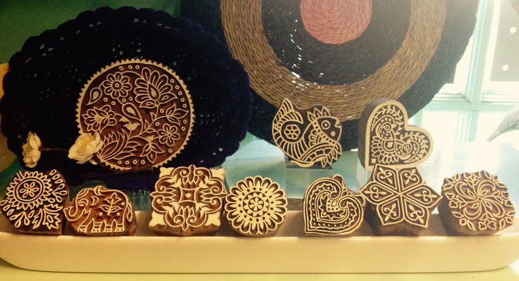 Gorgeous fairtrade block print stamps.  Carved from mango wood. We love these!