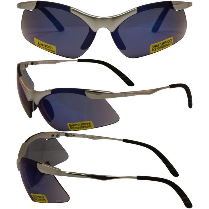 Lightning Safety Glasses Firm Metal Frame with Gtech Blue Lenses