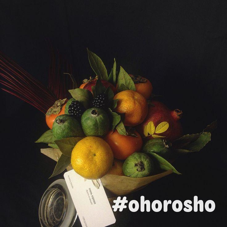Фруктово-ягодные букеты | 9 фотографий