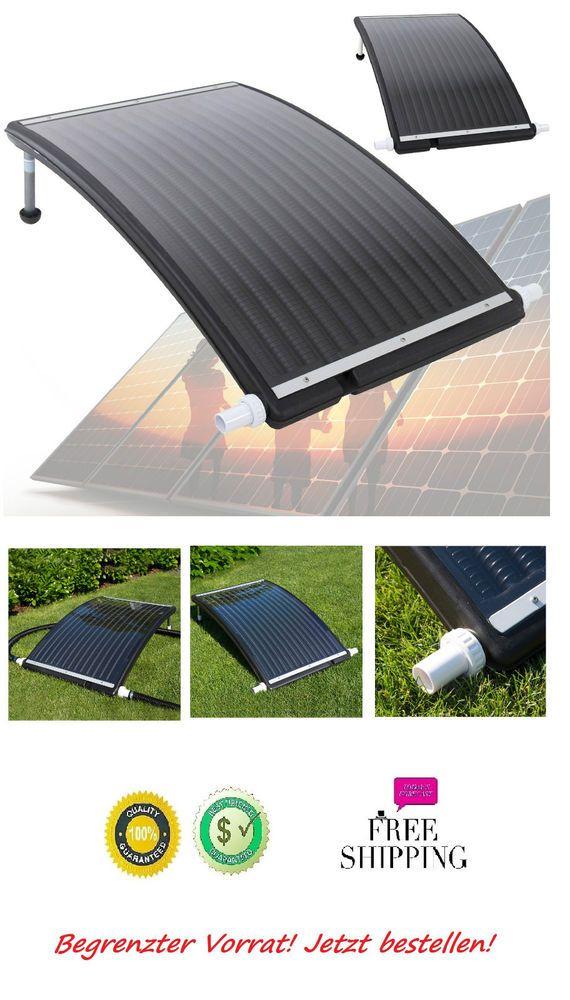 Solarheizung Poolheizung Solarmodul Garten Sonnenkollektor für Pool Solar Neu