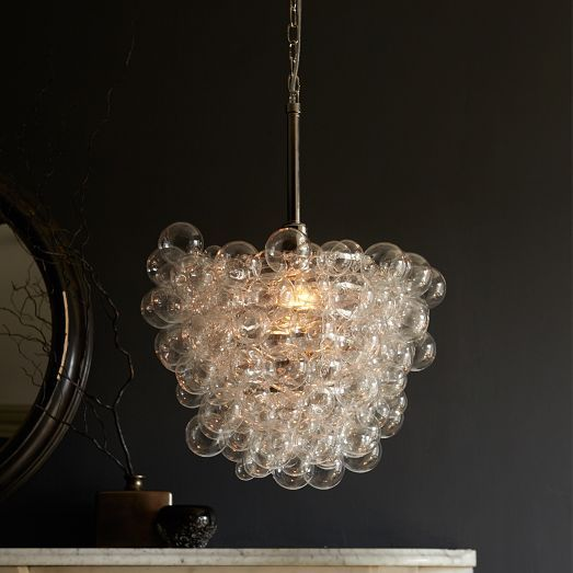 Bubbles hanging over a bathtub? Sweet Droplet Glass Pendant | West Elm $399