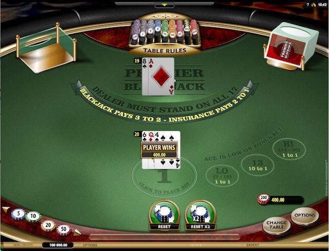 Jogar Premier Blackjack Hi Lo Gold