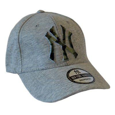 Erkek NY Kep Şapka Kamuflaj Nakışlı Gri