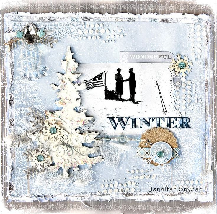 Winterings Layout by Jennifer Snyder via Little Yellow Bicycle blog---wow, this is gorgeous
