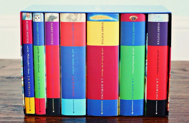 Harry Potter book spines #classicread. Plenty of secrets in the Harry Potter tales too. #SecretRead