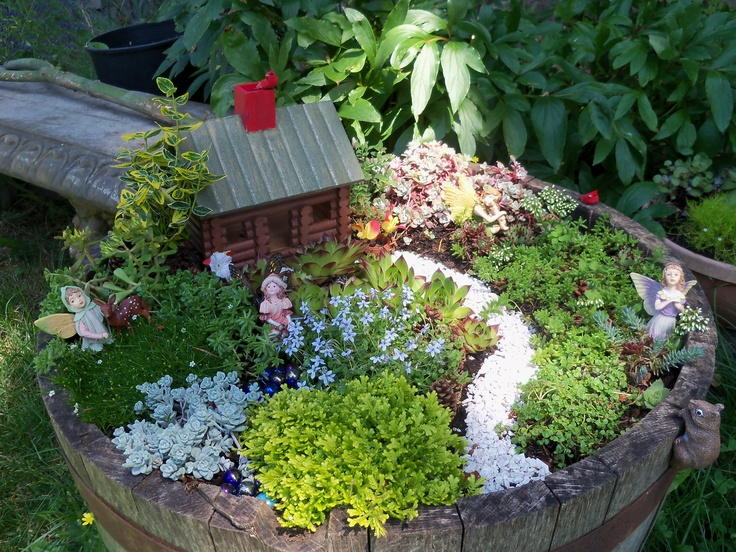 This is the little fairy garden I made last summer.