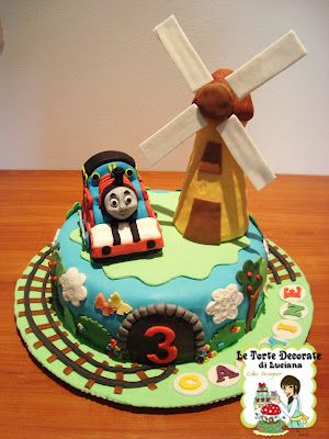 le torte decorate: torta trenino thomas