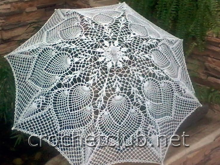 вязаный зонтик ажурный