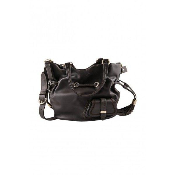 Lancel Black Premier Flirt Flat Bucket Bag via Polyvore featuring bags, handbags, shoulder bags, black purse, bucket shoulder bag, bucket bag purse, black bucket purse and cowhide purse