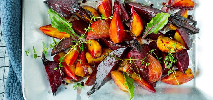 Bilde av bakte rotgrønnsaker