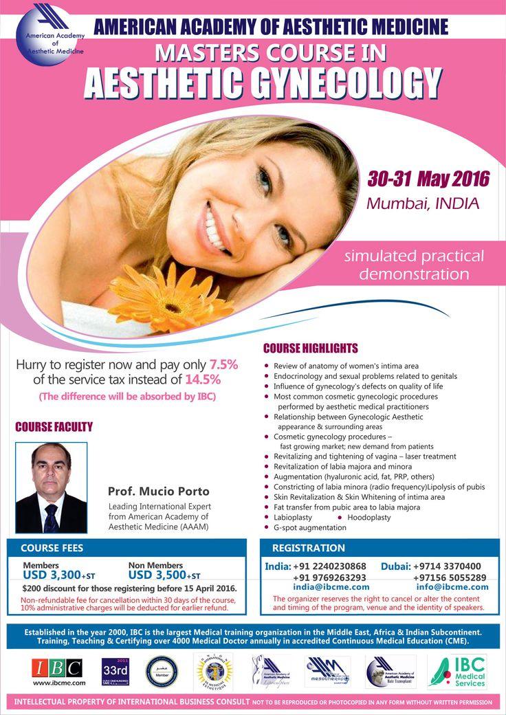 Aesthetic Gynecology Masters Course at Mumbai India by