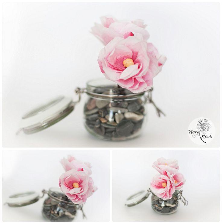 flor de papel, paper flower, pretty in pink, flores originales para boda, decoracion con flores, #noranook