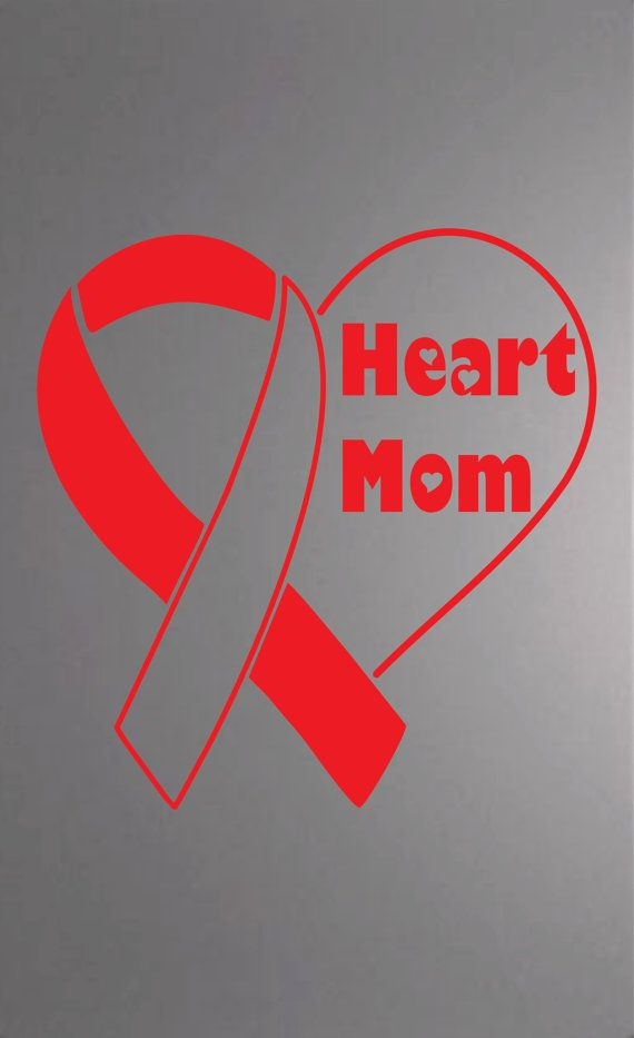 Heartbroken Mom Warns Others After 18 Year Old Daughter: Heart Mom CHD Awareness Decal By EnthousiasmosDesigns On