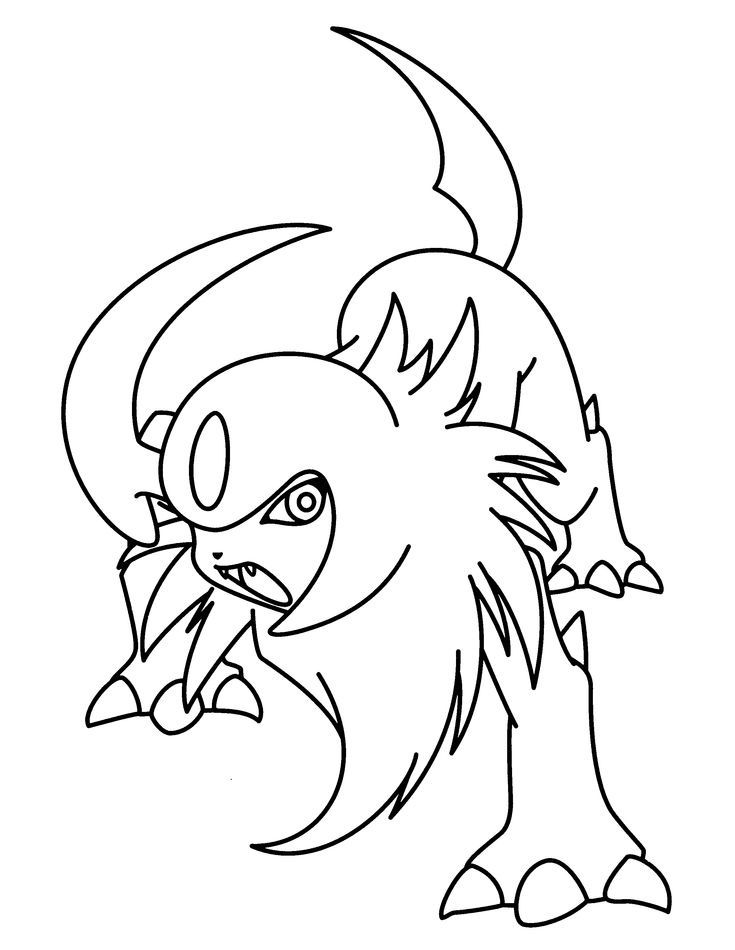 stantler pokemon coloring pages - photo#23
