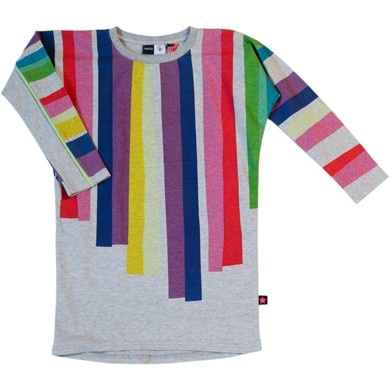 The Pippa & Ike Show * T-shirt dress with multi colour stripes and batwing sleeves Robinette by Molo