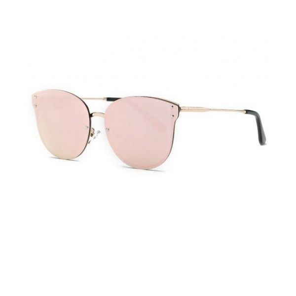 Pink Frameless Mirrored Sunglasses Pink (14 BAM) ❤ liked on Polyvore featuring accessories, eyewear, sunglasses, mirror sunglasses, pink glasses, pink mirror sunglasses, pink sunglasses and pink mirrored sunglasses