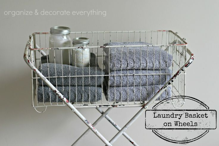 Laundry Basket on Wheels - Organize and Decorate Everything