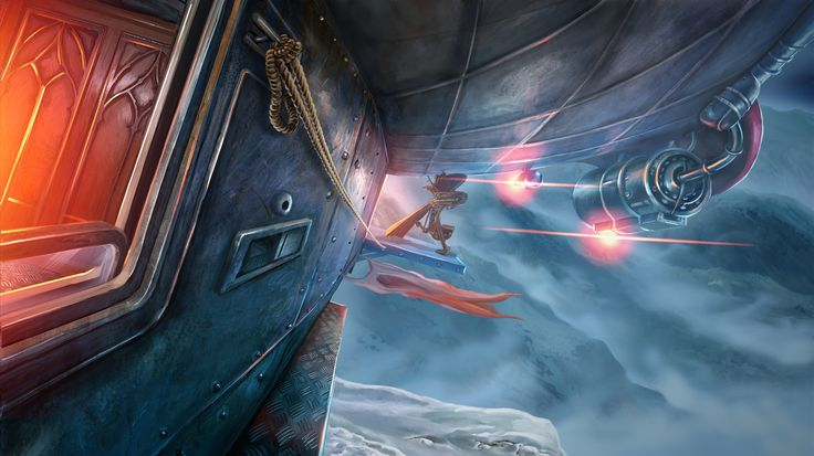 Clockwork Tales: Of Glass and Ink #steampunk #adventure #game #zeppelin #exterior www.artifexmundi.com/page/clockwork/ www.facebook.com/ArtifexMundi.ClockworkTales