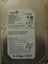 "Seagate Barracuda ST3400832A 400GB Hard Drive Brand: Seagate Model: Barracuda 7200.8 MPN: ST3400832A   Key Features: Enclosure: Internal Capacity: 400 GB Buffer Size: 8 MB Hard Drive Type: HDD (Hard Disk Drive) Spindle Speed: 7200 RPM Interface: ATA/ATAPI-6, DMA/ATA-100 (Ultra), SATA I Designation: Desktop Computer   Technical Features:  Platform: PC External Data Transfer Rate: 150 Mbps Internal Data Transfer Rate: 95 Mbit/s Form Factor: 3.5"" Seek Time: 8 ms Sound Emission: 28 dB"