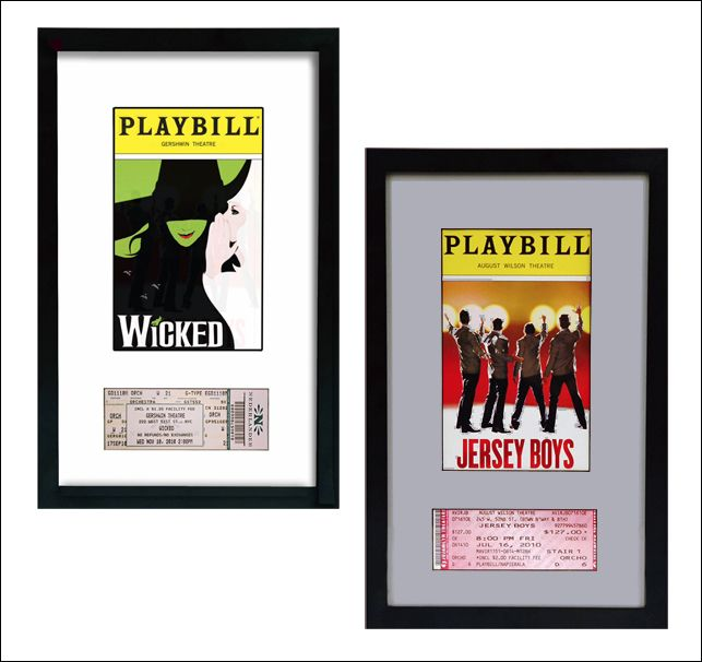 Playbill and Broadway Theatre Ticket Display Frame $26.95