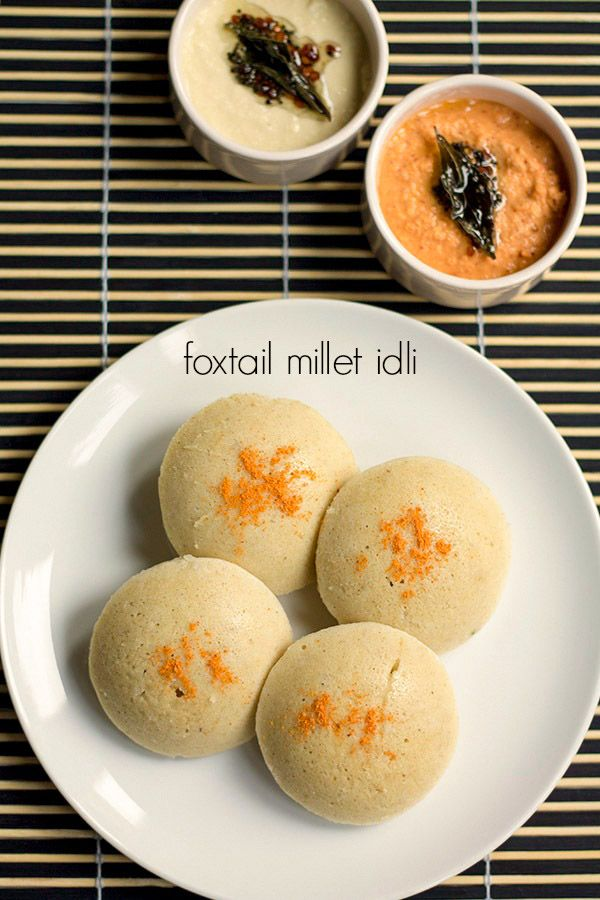 foxtail millet# idli - light, savory idlis made with foxtail miller and rice #side.