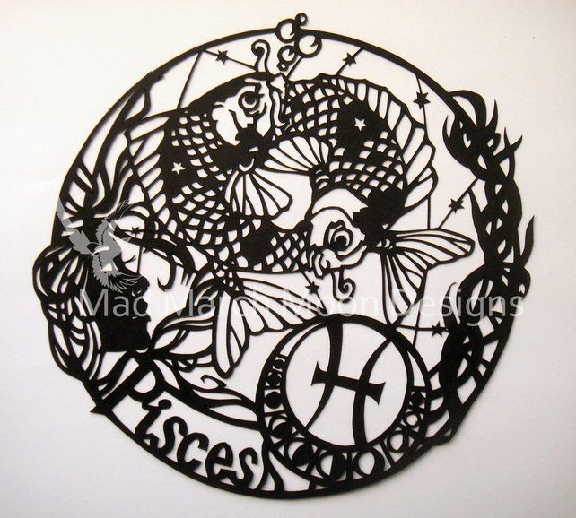 'Pisces' zodiac paper cut £45.00