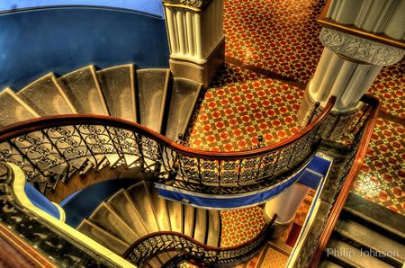 """The Grand Staircase"""" of Sydney's Grand Queen Victoria Building."""