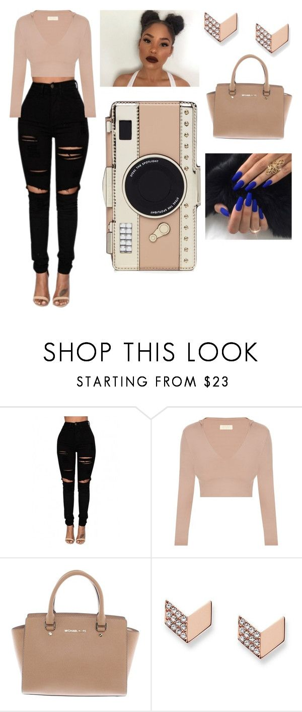 """""""Untitled #51"""" by prinxess-ari on Polyvore featuring Michael Kors, FOSSIL and Kate Spade"""