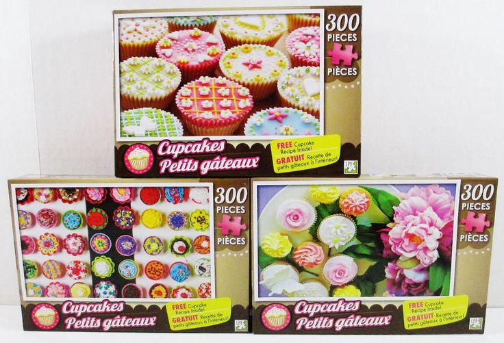 3 Cupcake Jigsaw Puzzles - 300 Pieces Each - Sweetie Pie Cupcakes #LPF ..... Visit all of our online locations ..... (www.stores.eBay.com/variety-on-a-budget) ..... (www.amazon.com/shops/Variety-on-a-Budget) ..... (www.etsy.com/shop/VarietyonaBudget) ..... (www.bonanza.com/booths/VarietyonaBudget ) .....(www.facebook.com/VarietyonaBudgetOnlineShopping)