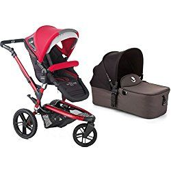 Jane Trider Extreme Jogging Stroller with Micro Bassinet - Deep Red