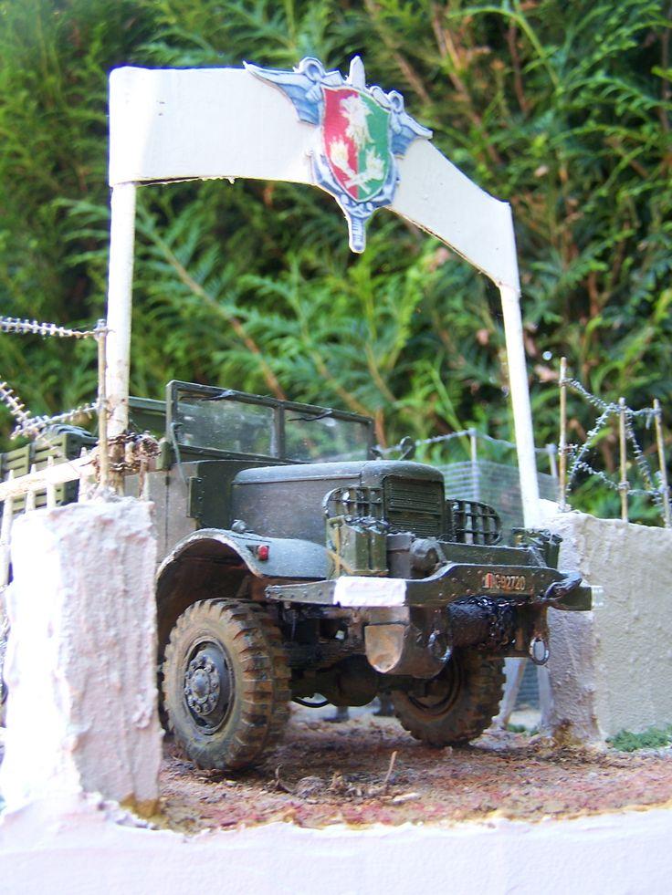 "Diorama INDOCHINE un ""gros camion mack NO6"" tracteur d'artillerie lourde"