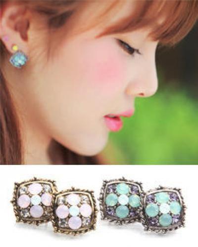 Flower Swarovski Crystal Earrings