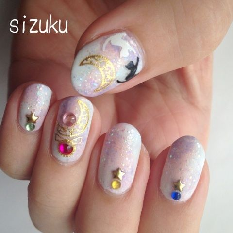 Sailor moon nails!                                                       …