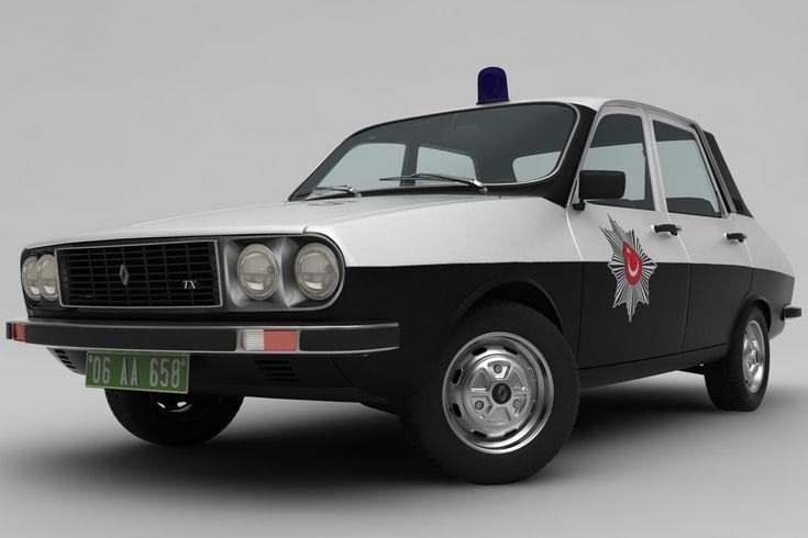 Renault 12 Tx 3d Police Car Models Renault Car Model