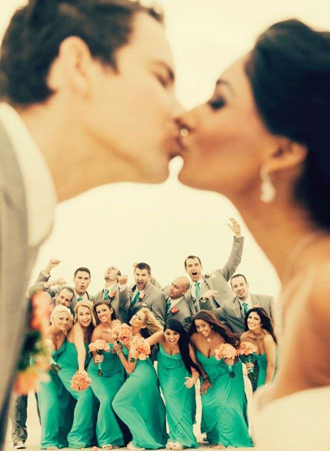 Nedime ve sağdıçlar ile çekilebilecek romantik ve eğlenceli düğün fotoğrafları