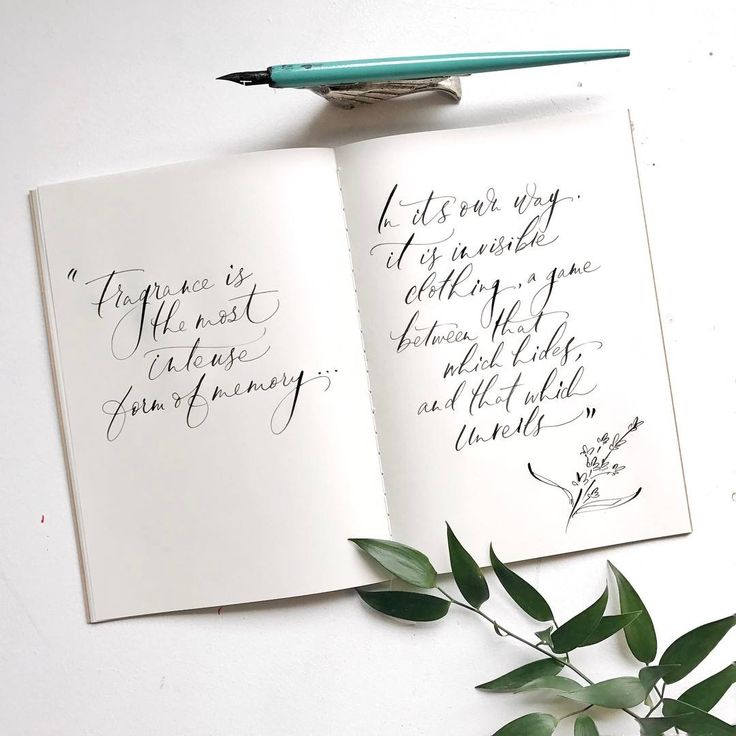 Making props for a fragrance event with a scribed notebook message #notes #fragrance #calligraphy