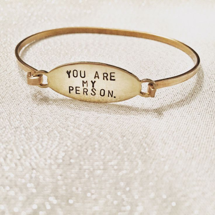 Grey's Anatomy bracelet - you are my person bff bracelet by HandToHeartJewelry on Etsy https://www.etsy.com/ca/listing/245407727/greys-anatomy-bracelet-you-are-my-person